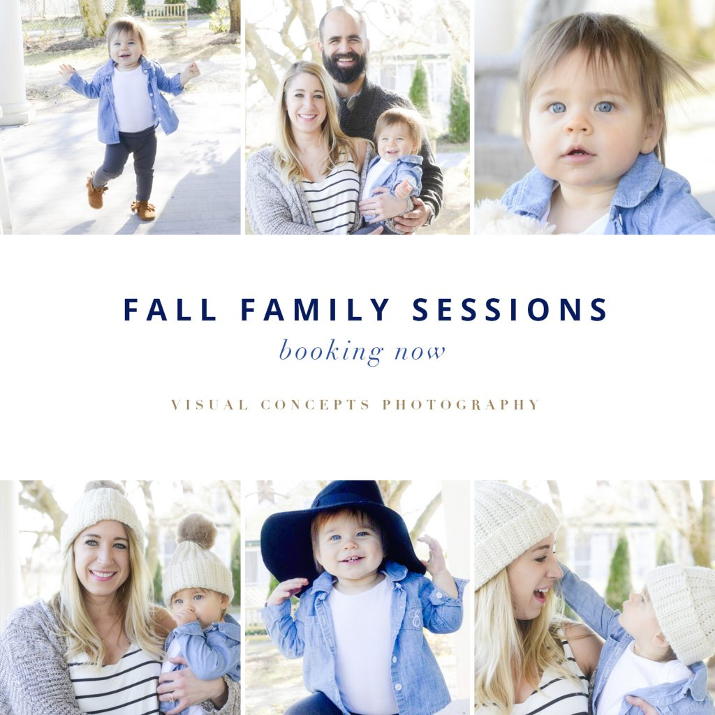NOW BOOKING FALL FAMILY PHOTO SESSIONS